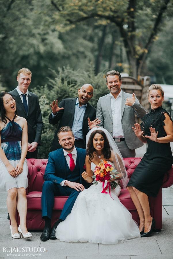 eleganckie wesele w banku, fuksja, wesele